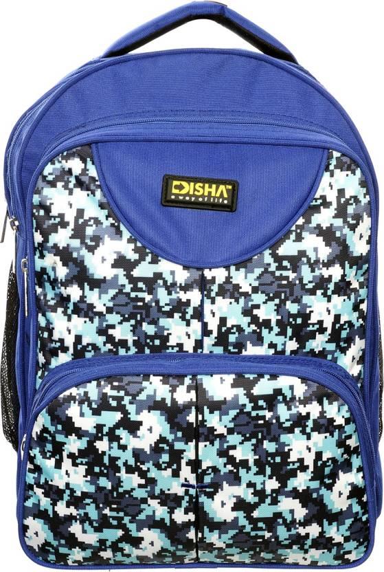 40dfcf68cf89 N Disha School College Waterproof Unisex Backpack Bag Waterproof Backpack ( Blue