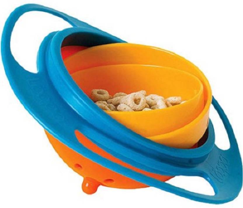 BANQLYN Universal 360 Degrees Rotates Spill Proof & No Mess Gyro Bowl For  Baby Kids Plastic Bowl