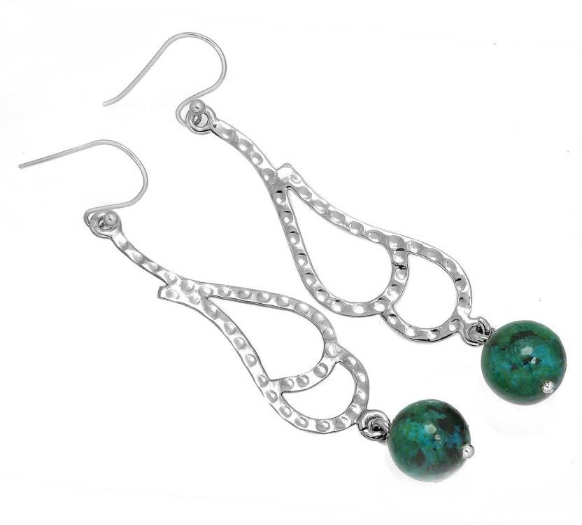 a06ce25e0e Flipkart.com - Buy Jeweloporium Genuine Azurite Gemstone Earring Solid 925 Sterling  Silver Stylish Jewelry Sterling Silver Dangle Earring Online at Best ...