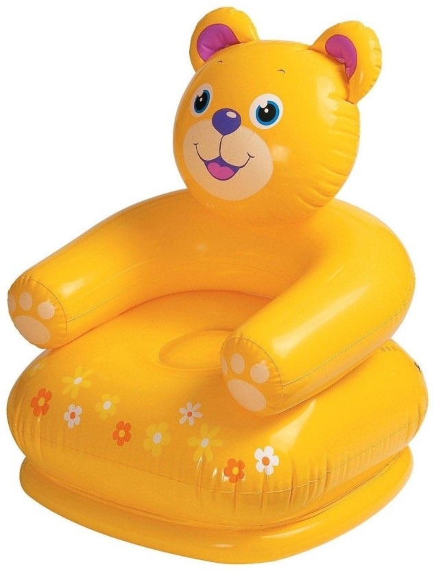 Speoma Yellow Inflatable Teddy Animal Chair For Kids Inflatable Sofa/ Chair