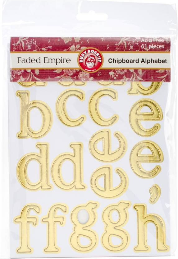 Ruby Rock-It Faded Empire Chipboard Alphabet - Faded Empire