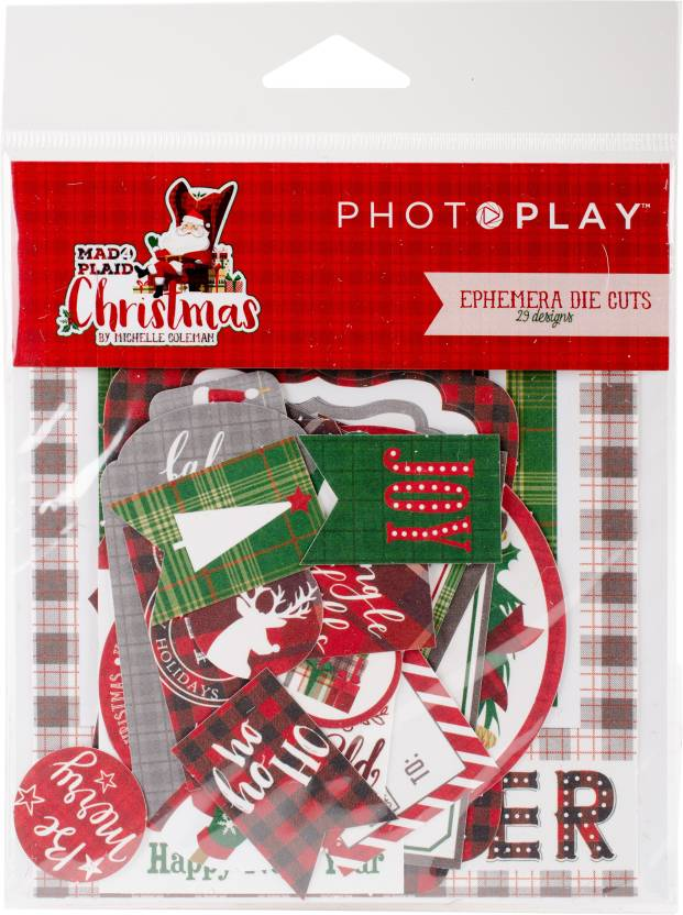 Photo Play Paper Mad 4 Plaid Christmas Cardstock Die - Cuts - Mad 4 ...