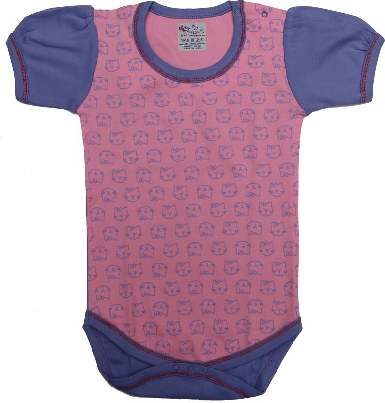 9009f919de4d KABOOS Baby Boys   Baby Girls pink and violet Bodysuit - Buy KABOOS Baby  Boys   Baby Girls pink and violet Bodysuit Online at Best Prices in India  ...