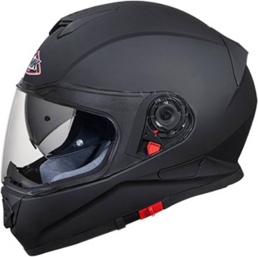 9111645f SMK MA200 Twister Pinlock Fitted Full Face Helmet with Clear Visor (Matt  Black, L) Motorbike Helmet (Matt Black)