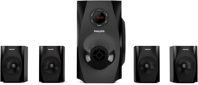 Philips SPA8150B/94 70 W Bluetooth Home Audio Speaker Black, 4.1 Channel  Philips Speakers