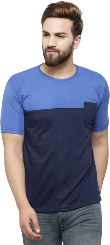 65cb650cfc6 Rico Sordi Solid Men s Round Neck Multicolor T-Shirt - Buy Blue ...