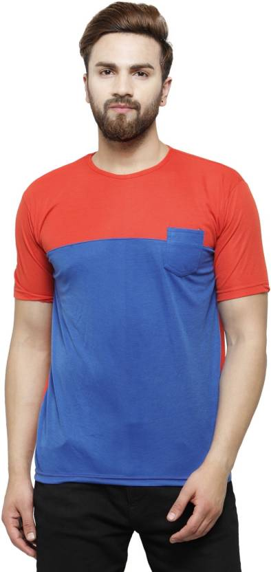 bbd5636cafc Rico Sordi Solid Men s Round Neck Multicolor T-Shirt - Buy Red ...
