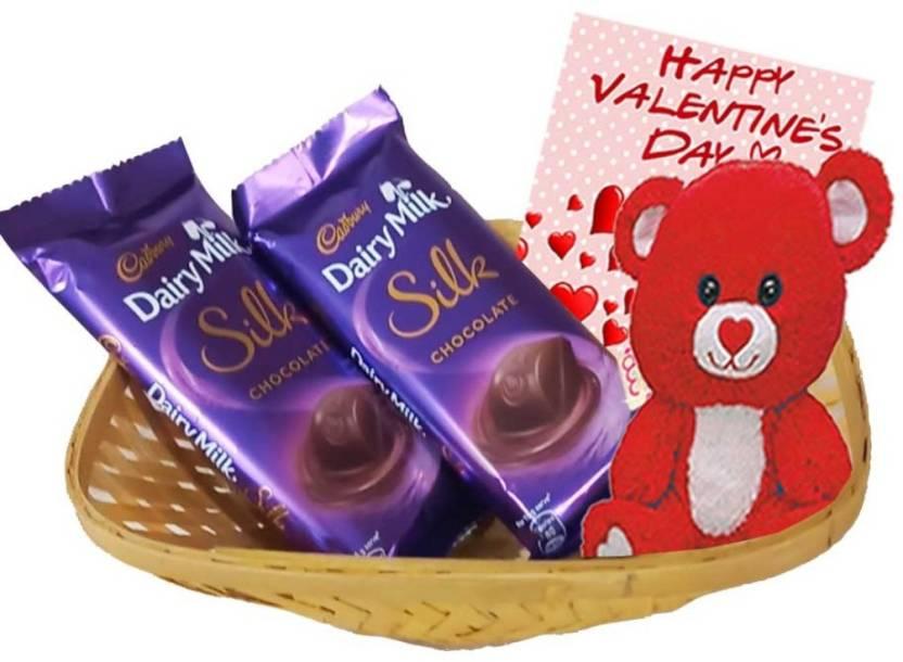 86abc91037 Maalpani valentine's Day Greetings with Teddy bear - Chocolate ...