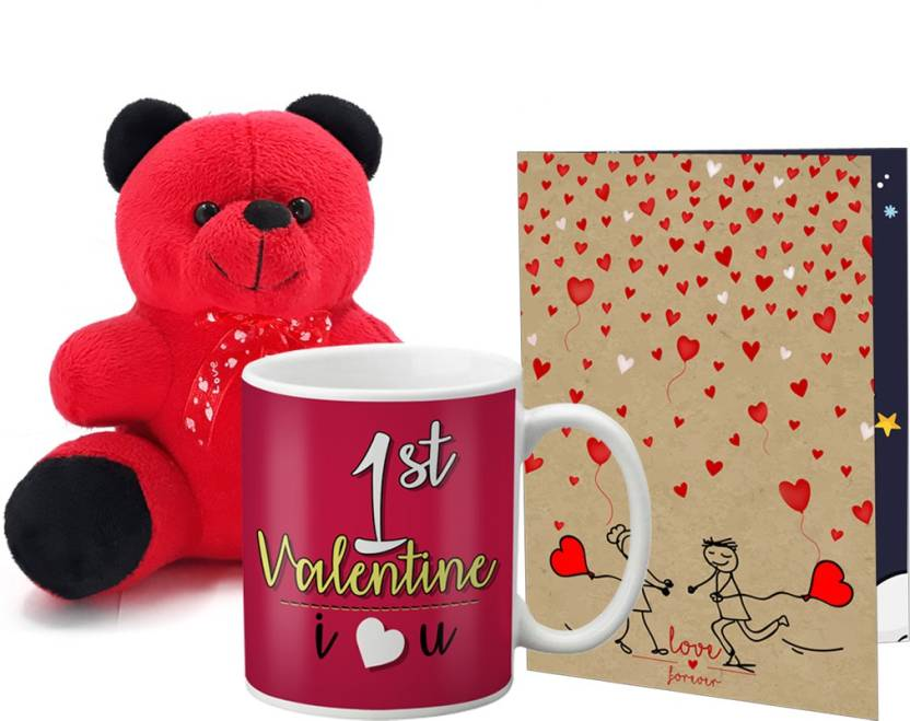 Lof Valentines Gift For Wife Teddy Soft Toy Gift Combo Girlfriend