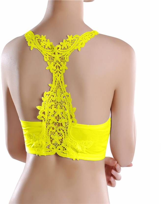 556058f913 Grab Offers by New Women Sexy Lace Bralette Bra Bustier Crop Top Cropped  Vest Halter Tank Tops For Women(Free Size Fits Upto 32 to 36 Bust Size)  Women s