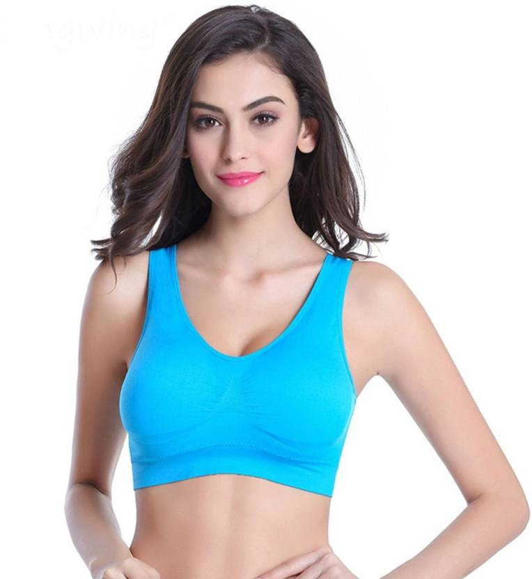 630d61b012 Grab Offers by Comfortable New Seamless Wide straps Sports Style Aire Bra  Crop Top Vest Comfort Stretch Bras Shape wear with Removable Pads for  Girl s