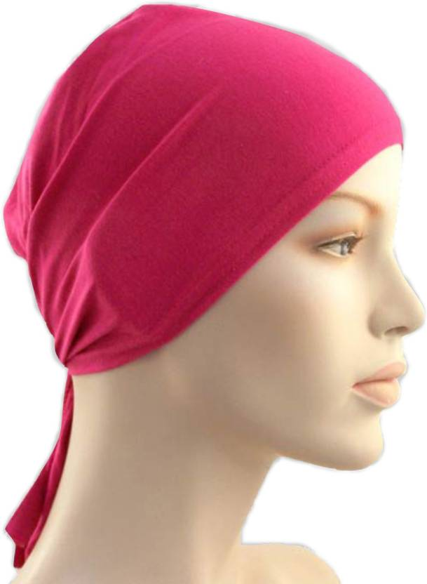 e9c984aa635 Cwen Collection Solid Hijab TIE BACK BONNET PINK