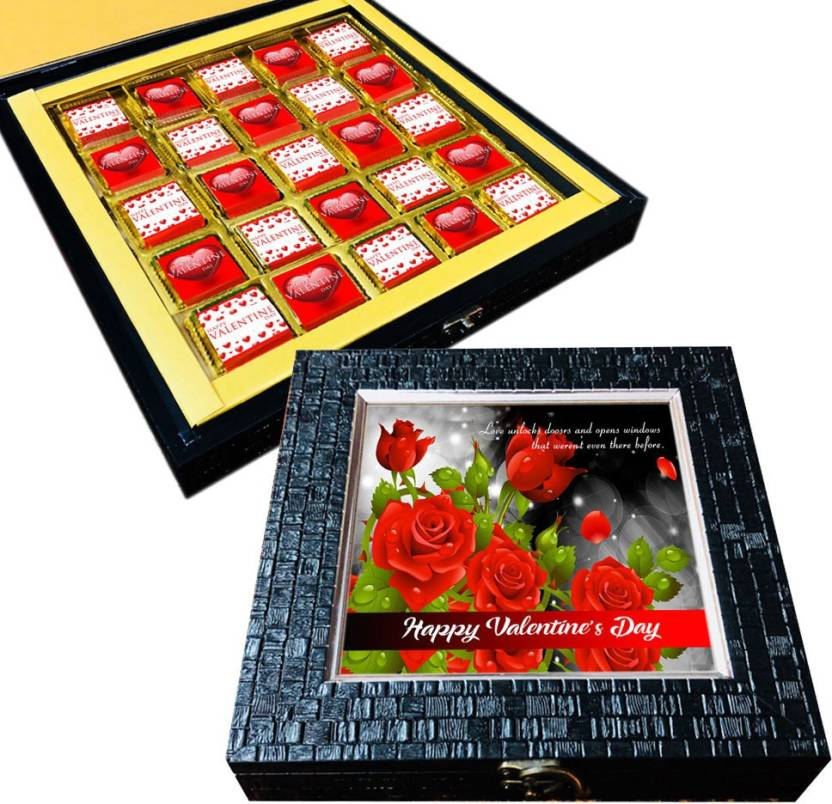 Mystik Valentine S Gift Rose Box For Him For Her 25pc Chocolate