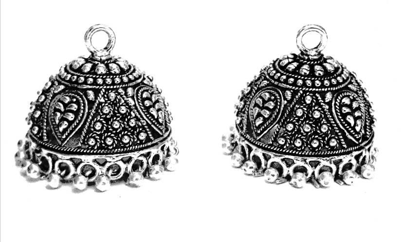 9b6b5be75c9ce3 Flipkart.com - Buy Alankarana Silver Bird German Silver Jhumki Earring  Online at Best Prices in India