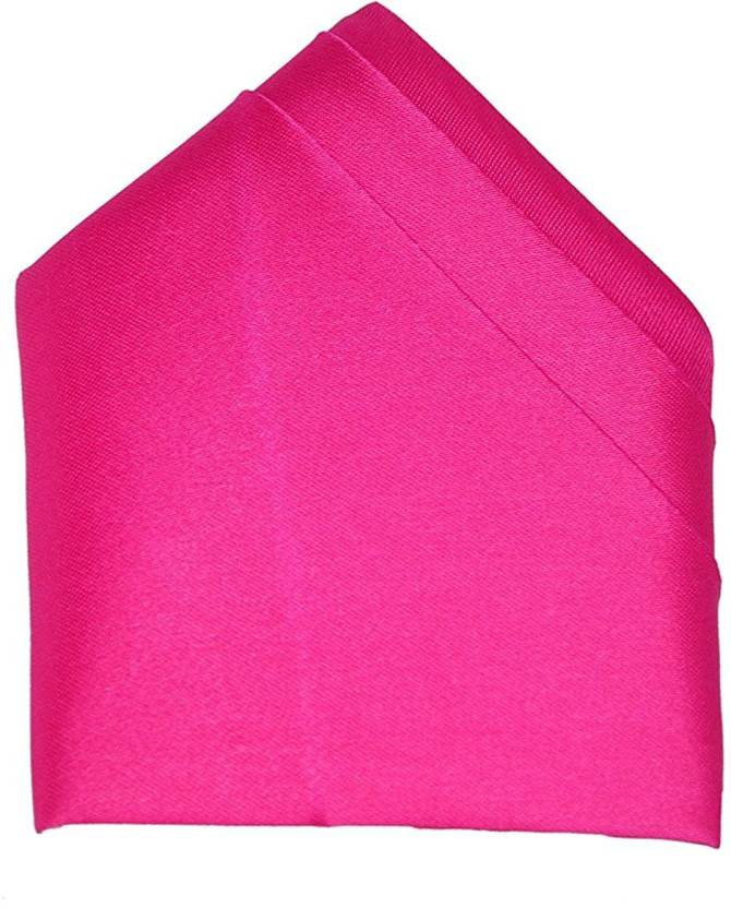ee16313d42820 Just Brand Pink Solid Satin Pocket Square Price in India - Buy Just ...