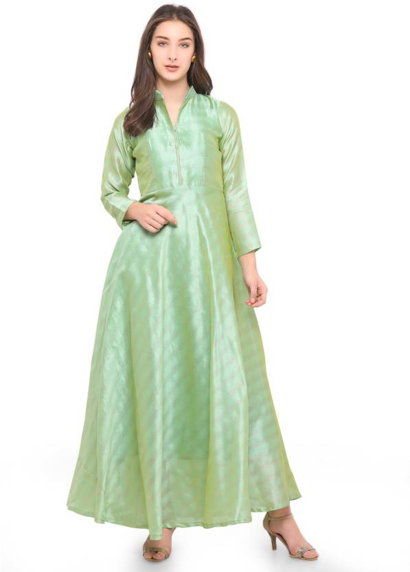 2b144a31824 sarvagny clothing Women Maxi Green Dress - Buy Pista sarvagny clothing  Women Maxi Green Dress Online at Best Prices in India