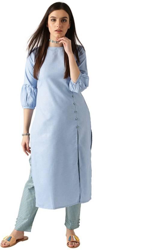 16c5322ff Libas Women Kurta and Pant Set - Buy Blue Libas Women Kurta and Pant Set  Online at Best Prices in India