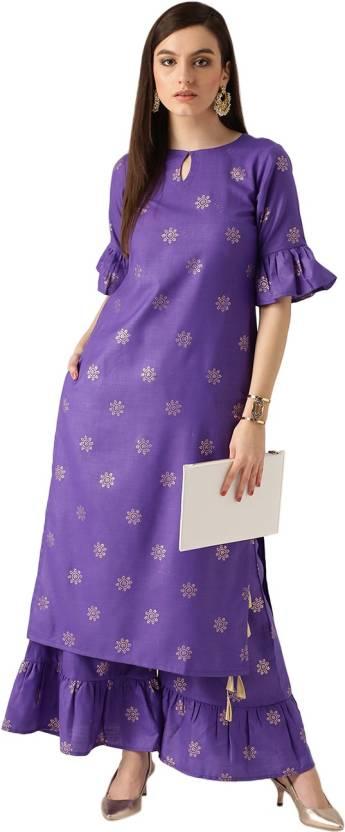 e699af0c8 Libas Women s Kurta and Palazzo Set - Buy Purple Libas Women s Kurta ...