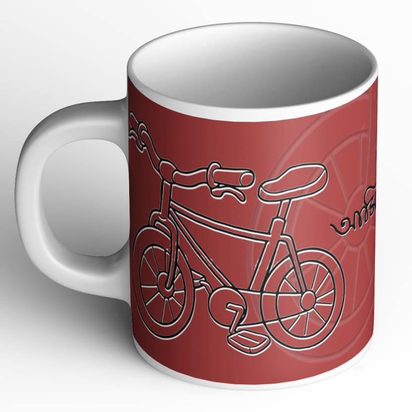 Abaronee Cycle love-Bengali quote Ceramic Mug Price in India