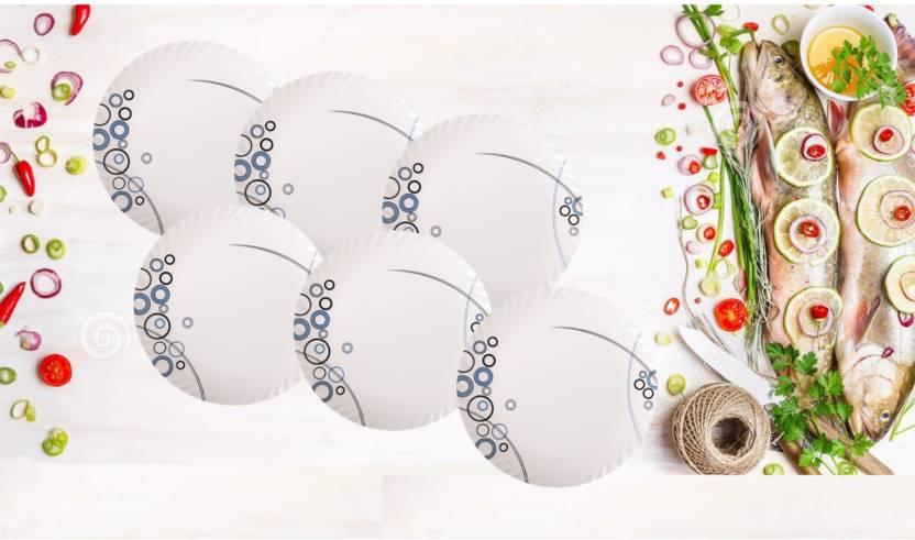 palm s alex pack of 6 plates set set premium quality melamine
