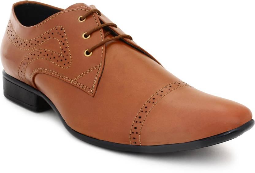 85c80434e3faea BUWCH Men'S Formal Tan Shoe-8Uk Lace Up For Men - Buy BUWCH Men'S ...