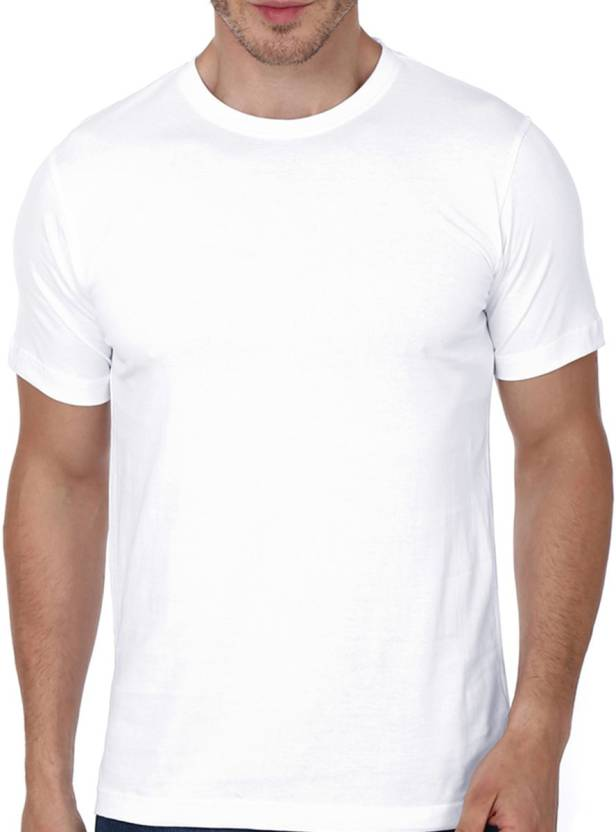 85620b6796a Atrangi Store Solid Men Round Neck White T-Shirt - Buy Atrangi Store Solid  Men Round Neck White T-Shirt Online at Best Prices in India