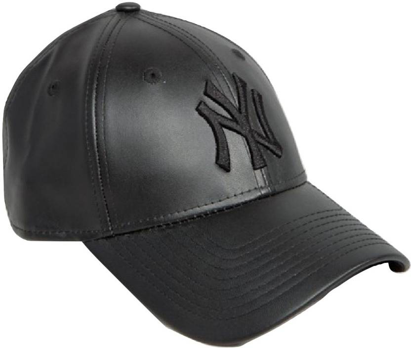 529d7f820be Huntsman Era Rexin Leather Black Baseball Cap - Buy Huntsman Era Rexin  Leather Black Baseball Cap Online at Best Prices in India