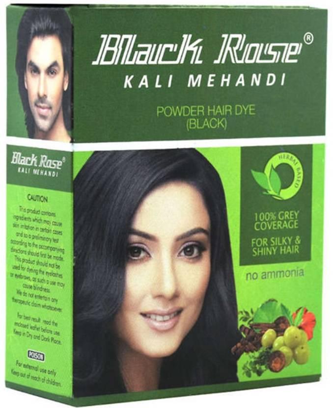 Black Rose Kali Mehandi Hair Dye Black Pack Of 5 Hair Color