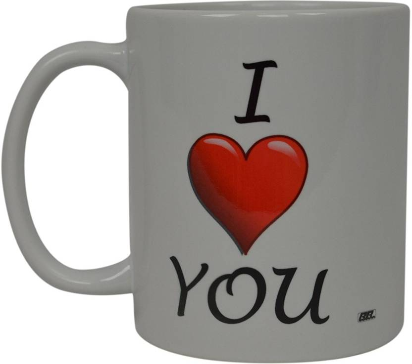 Sky Dot I Love You Heart Novelty Cup Wives Great Gift Idea For