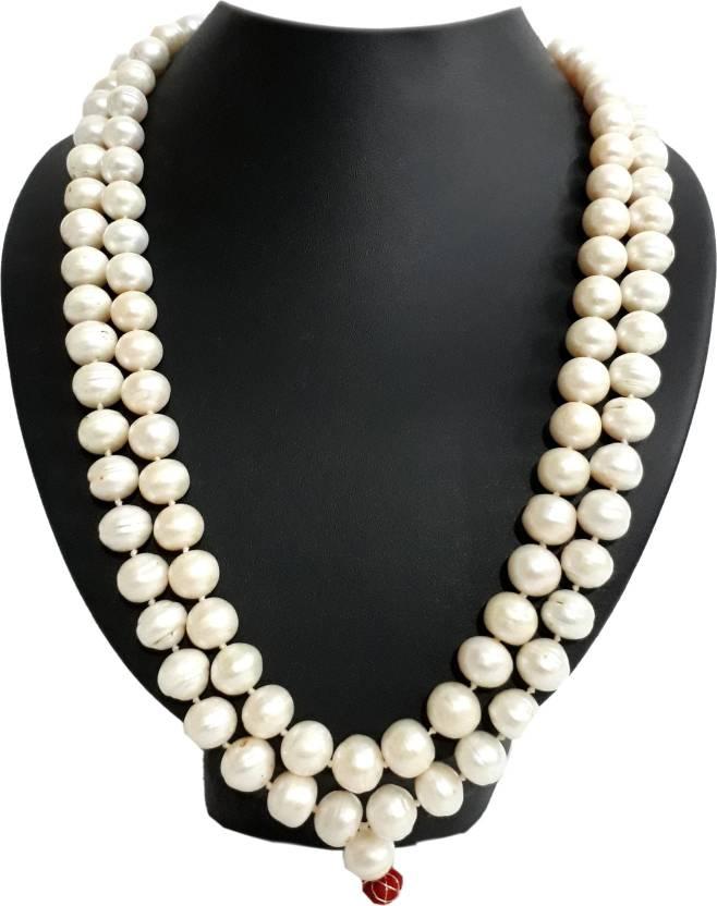 47c4ec578 SHIVOHAM Fresh Water pearl Garland ( Moti Mala ) Stone Necklace Price in  India - Buy SHIVOHAM Fresh Water pearl Garland ( Moti Mala ) Stone Necklace  Online ...