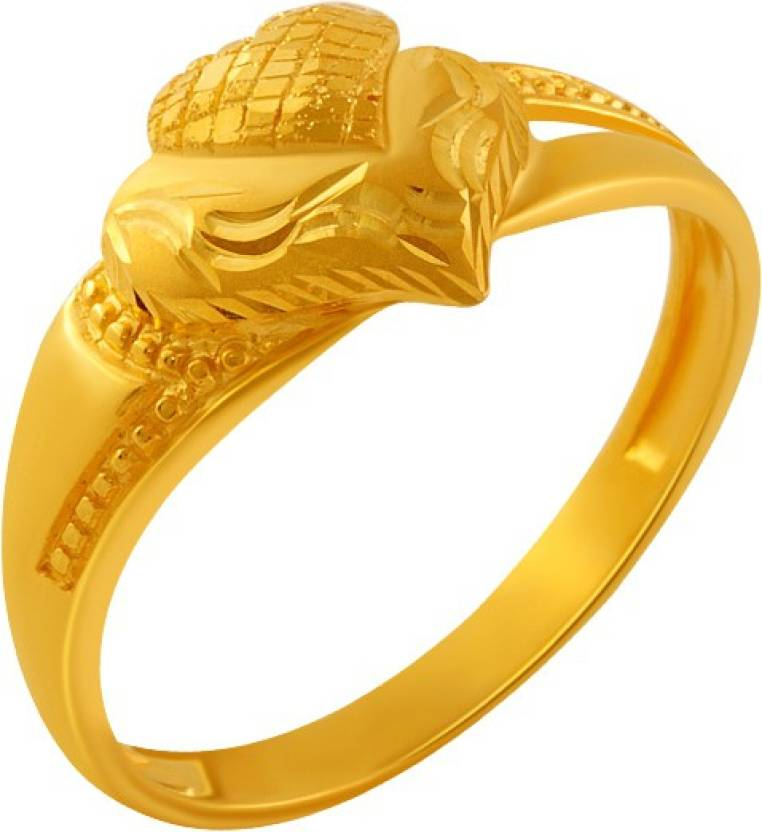 Pc Chandra Jewellers Valentine S Day 22kt Yellow Gold Ring