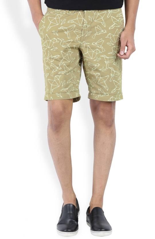 03ca1765e4c002 Jack   Jones Printed Men s Beige Chino Shorts - Buy grey Jack ...
