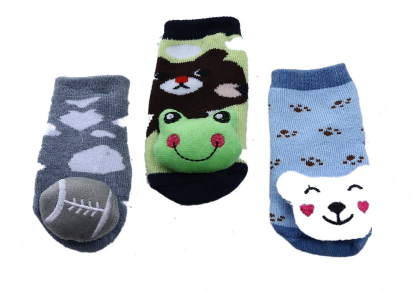 a843a7fba Camey Baby Boy s   Baby Girl s Printed Ankle Length Socks (Pack of 3)
