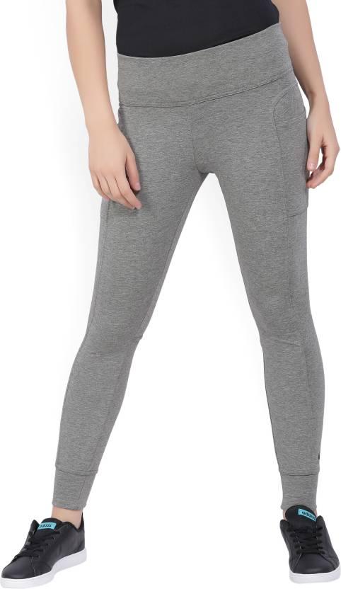 30f0ac6372c721 Nike Solid Women's Grey Tights - Buy CARBON HEATHER Nike Solid Women's Grey Tights  Online at Best Prices in India | Flipkart.com