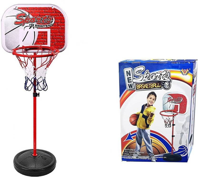 8bb5effe1db Emob 165 CM Adjustable Height Basketball Kids Sports Indoor Outdoor  Portable Ball Hoop Toy Kit with Stand   Net Basketball Price in India - Buy  Emob 165 CM ...