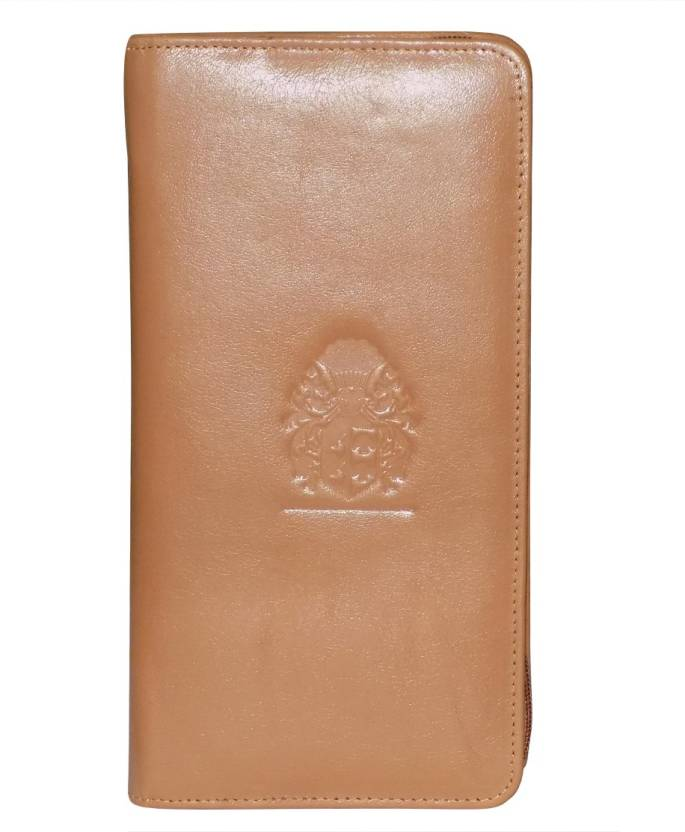 63b6426375d Kan Valentine Day Gift-Genuine Leather Mobile Holder Business Card  Holder Passport Organizer for Men   Women (Tan)