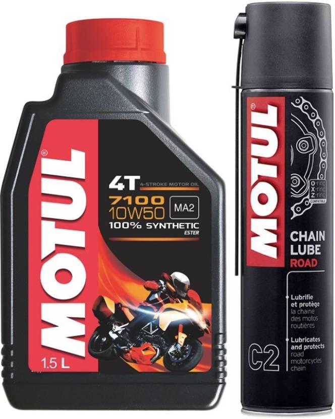 MOTUL 7100 4T 10W50 C2 Chain lub COMBO Motul 7100 4T 10W50 MOTUL C2