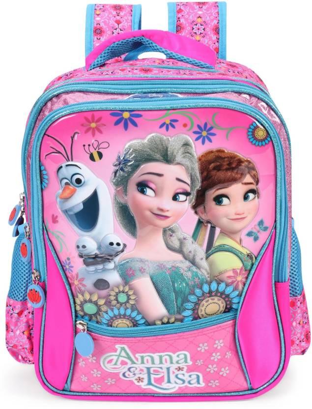 6053f7ec87 Disney Frozen Anna & Elsa Pink School Bag 16 inches School Bag