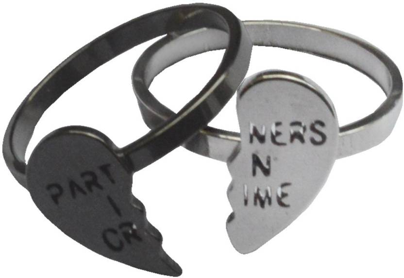 d111c16486 Sullery Valentine Gift Couples Broken Heart Partner In Crimes Stainless  Steel Titanium Plated Ring Set Price in India - Buy Sullery Valentine Gift  Couples ...
