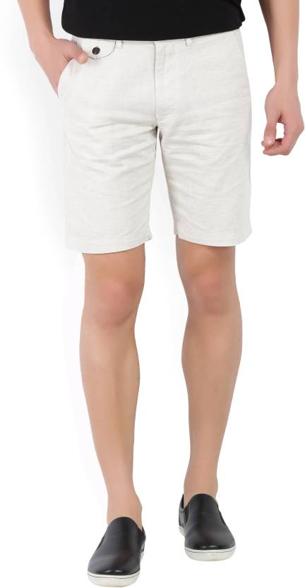 5dc29ad1904cff Jack   Jones Solid Men s Beige Chino Shorts - Buy white Jack   Jones Solid  Men s Beige Chino Shorts Online at Best Prices in India