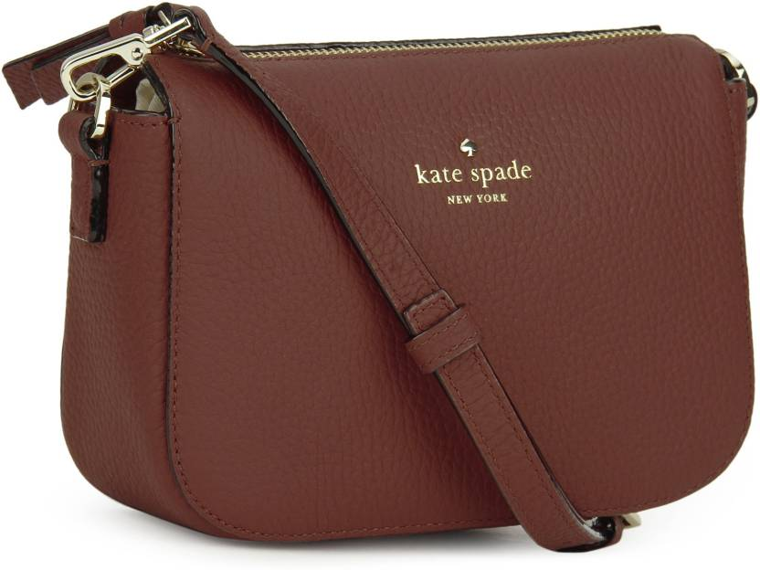Kate Spade Women Casual Red Genuine Leather Sling Bag