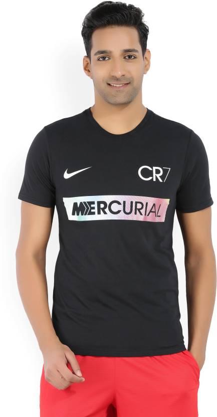 61db854a3f48 Nike Printed Men s Round Neck Black T-Shirt - Buy BLACK Nike Printed ...