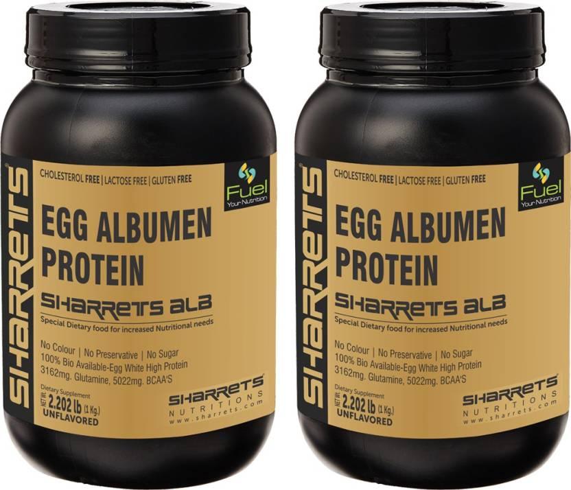Sharrets Nutritions Egg White Albumen Protein Powder No Flavor No