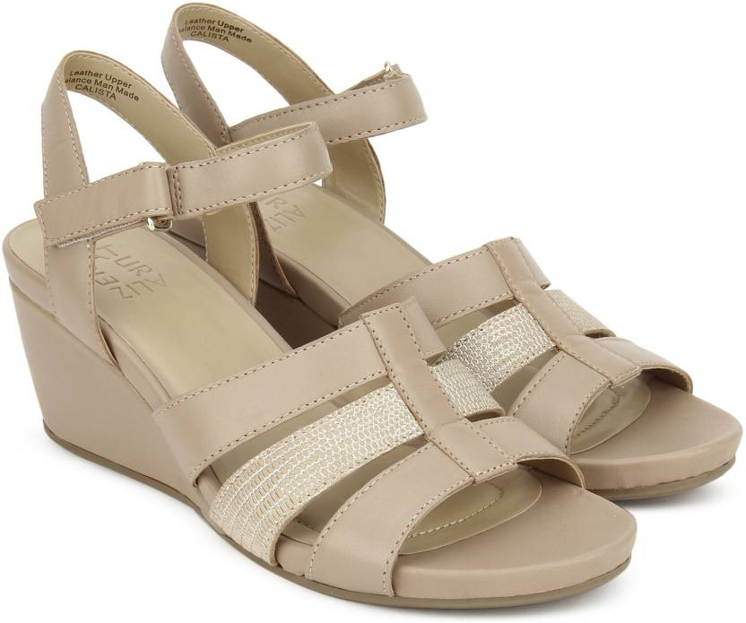 e522f09ee354 NATURALIZER Women Ginger Snap Wedges - Buy Beige Color NATURALIZER Women Ginger  Snap Wedges Online at Best Price - Shop Online for Footwears in India ...