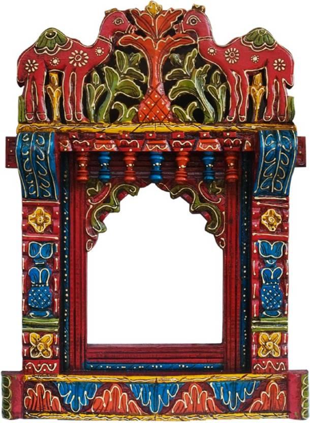 Saarthi Decorative Wooden Rajasthani Jharokha Photoframe With