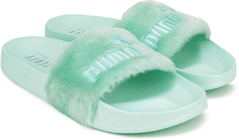 check out b82af 97660 Puma Fur Slide Wns Slides - Buy Bay-Puma Silver Color Puma ...