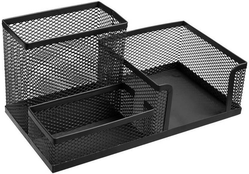 Pinzo 3 Compartments Metal Desk Organizer