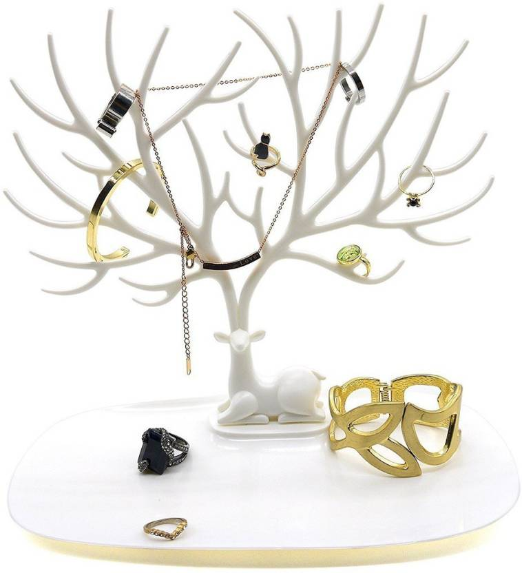 PackNBuy Multipurpose Jewellery Stationary Organizer Jewelry Necklace Ring Earring Tree Stand Holder Rack Jewellery Organizer Price in India - Buy PackNBuy ...