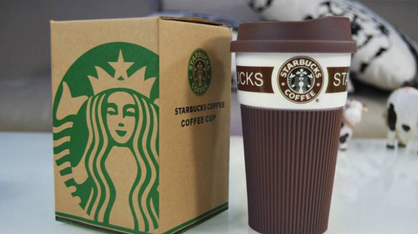 nsquareshop starbucks coffee with silicone lid and sleeve ceramic