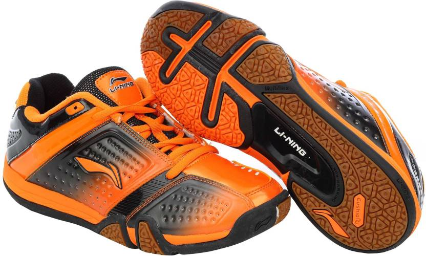 quality design 9c80d 64fa4 Li-Ning Hero No.1 Ltd. Edition Badminton Shoes For Men (Black, Orange)
